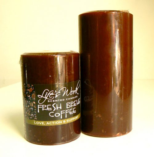 Coffee Scented Candles. Handcrafted by the artisans at Life's Work.